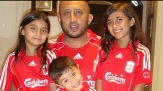 Safi Qurashi and his three children