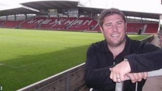 Huw Griffiths at Wrexham's Racecourse Ground