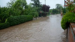 Flooding in Lambley