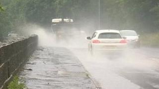 Rain in Gateshead