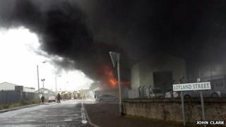 Fire in Lotland Street