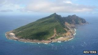 Uotsuri island, part of the disputed islands in the East China Sea, known as the Senkaku isles in Japan, and Diaoyu islands in China, is seen in the East China Sea (file photo)