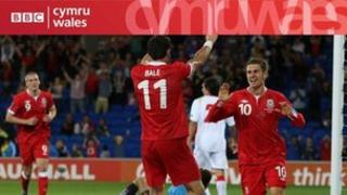 Gareth Bale ac Aaron Ramsey