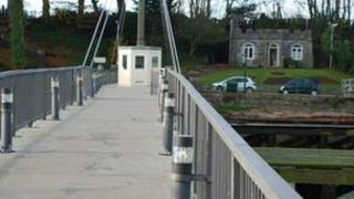 Pont droi Pont yr Aber (llun:Alan Fryer)