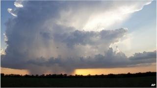 Thunderstorm over Wichita, Kansas