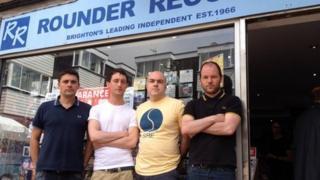 From left to right - Phil Barton (owner), Joel Dawes, Johnny Hartford, Steve Sexton