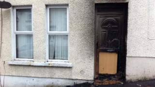 Scene of Cuthbert Street fire