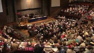 General synod of the Church of England meeting in York on 9 July 2012