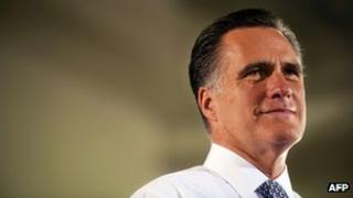 Mitt Romney addressing a campaign rally in Sterling, Virginia 27 June 2012