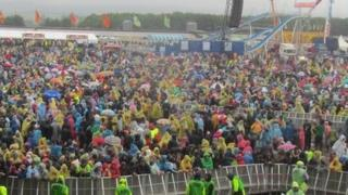 Rain at T in the Park