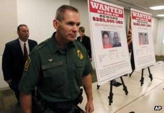 US officials announce indictments for five suspects wanted over the death of US Border Patrol agent Brian Terry, on 9 July 2012 in Tucson, Arizona