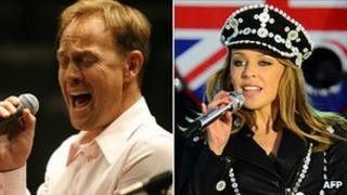 Jason Donovan and Kylie Minogue