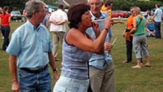 Sandra Ashley, ex-pea shooting champion, pictured in 2008