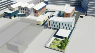 Artist's impression of the completed homeless and housing complex