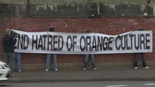 Loyalist protest in north Belfast