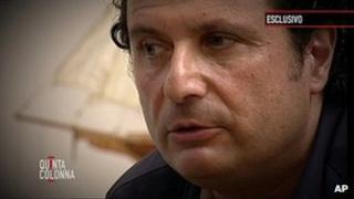 Francesco Schettino on Italy's Canale 5 television