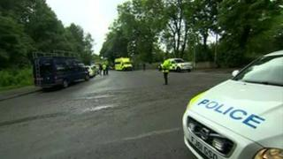 Police on the streets in Hollingworth