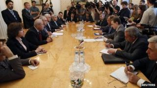 Syrian opposition delegation meets Sergei Lavrov in Moscow (11 July 2012)