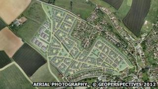 Artists impression of how the Barton Farm development might look