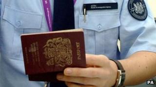 A passport control officer