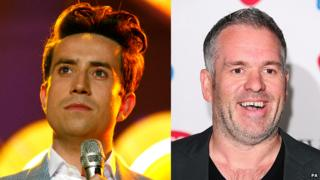 Nick Grimshaw and Chris Moyles
