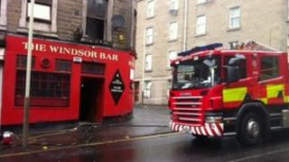 Fire crew in Dundee