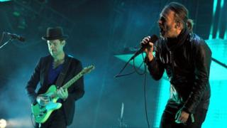 Ed O'Brien and Thom Yorke from Radiohead