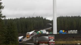 Construction work at the Whitelee Wind Farm extension