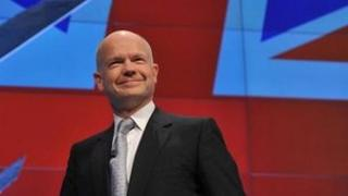 William Hague at the 2011 Conservative party conference