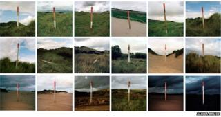 Menie posts in the landscape