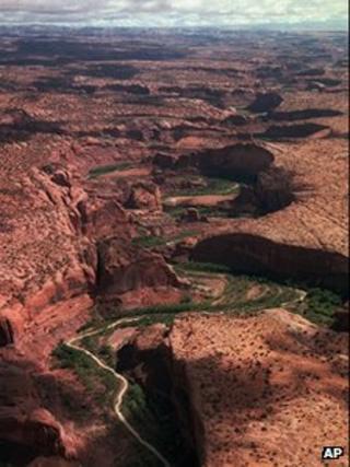 A 1996 file photo of the Escalante River