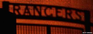Glasgow Rangers shadow sign