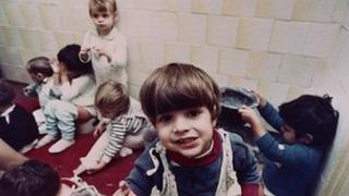 Romanian orphans in 1991 Pic: AP
