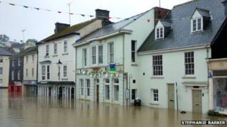 Flooding in Modbury, 7 July 2012