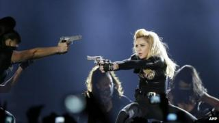 Madonna on stage at the Stade de France, Paris, 14 July