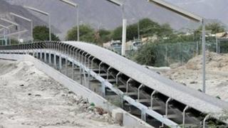 General view of a oil conveyor belt in Fujairah
