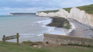 Cliffs near Belle Tout lighthouse