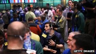 Oil traders on the New York Mercantile Exchange