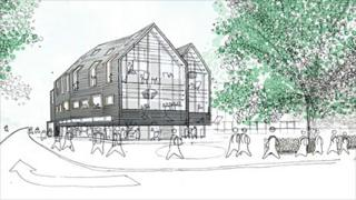 Artist's impression of Norwich City College arts building