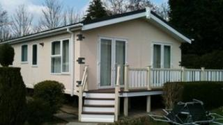 Static caravan produced by Normandy Holiday Homes Ltd.