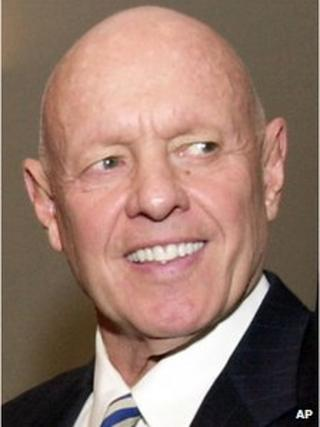 File photo shows Dr Stephen R Covey at a training session at Georgia State University in Atlanta 25 February 2003