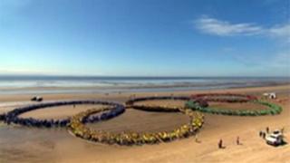Olympic rings Crosby beach