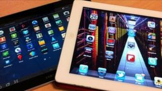 Galaxy Tab and iPad