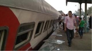 Scene of the accident in Badrashin, Giza