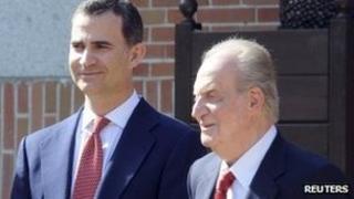 Prince Felipe and King Juan Carlos of Spain