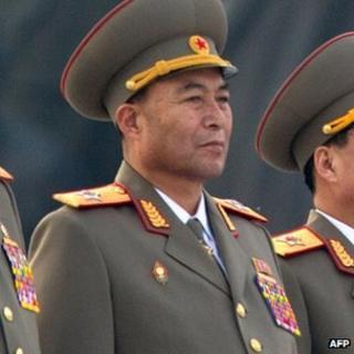 Former North Korean military chief Ri Yong-ho at a ceremony in Pyongyang, 13 April 2012