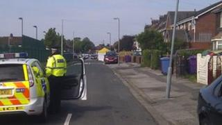 Scene of the shooting in Norris Green