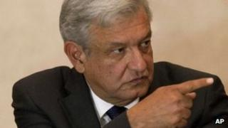 Andres Manuel Lopez Obrador on 18 July 2012