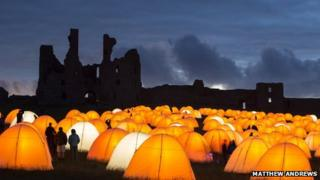Peace Camp at Dunstanburgh Castle
