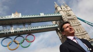 Lord Coe at Tower Bridge in London